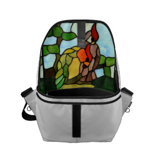Stained Glass Birds Small Messenger Bag