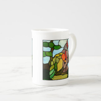 Stained Glass Birds Tea Cup