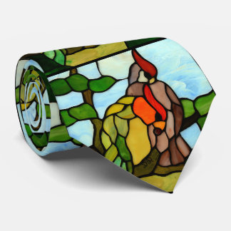 Stained Glass Birds Ties