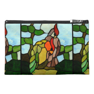 Stained Glass Birds Travel Accessory Bag