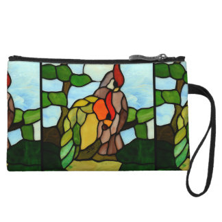 Stained Glass Birds Wristlet