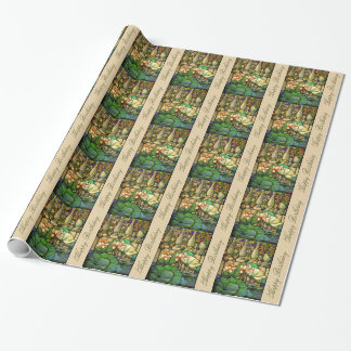 Stained Glass Birthday Wrapping Paper