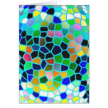 Stained Glass Blue : Artistic Signature Graphics Greeting Cards