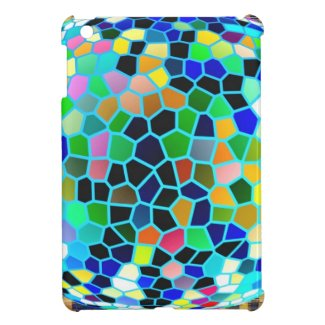 Stained Glass Blue : Artistic Signature Graphics iPad Mini Cover