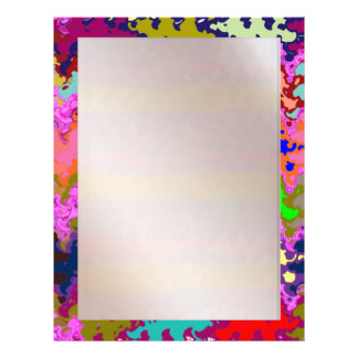 Stained Glass Blue : Artistic Signature Graphics Personalized Letterhead