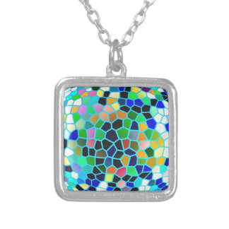 Stained Glass Blue : Artistic Signature Graphics Pendant