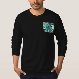 Stained Glass Blue : Artistic Signature Graphics T-Shirt