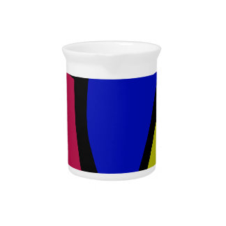 Stained Glass Blue Beverage Pitchers