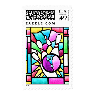 Stained Glass Bowling Stamps