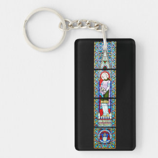 stained glass budapest religion cathedral Matthias Keychain