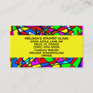 Stained Glass Artist Business Cards Zazzle