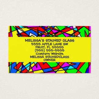 Stained Glass Business Card