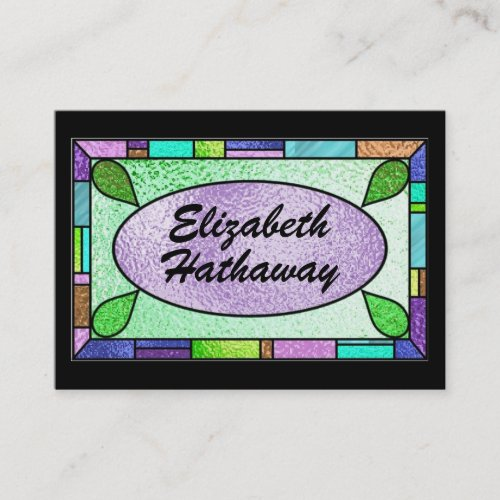 Stained Glass Business Card by SRF