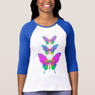 Stained Glass Butterflies T-Shirt