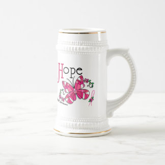 Stained Glass Butterfly 1 Breast Cancer Coffee Mug