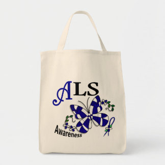 Stained Glass Butterfly 2 ALS Tote Bag