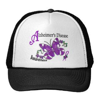 Stained Glass Butterfly 2 Alzheimer's Trucker Hat