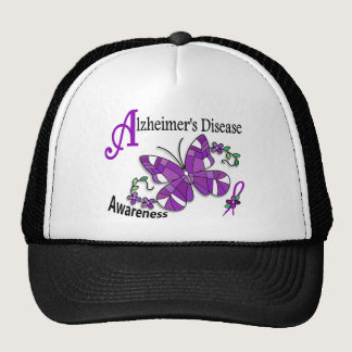 Stained Glass Butterfly 2 Alzheimer's Trucker Hat