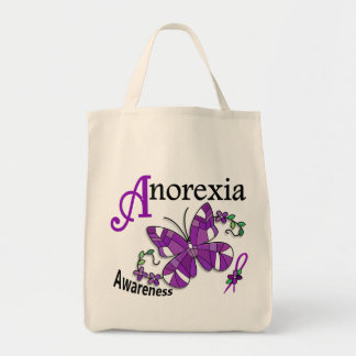 Stained Glass Butterfly 2 Anorexia Tote Bag