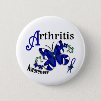 Stained Glass Butterfly 2 Arthritis Button