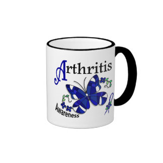 Stained Glass Butterfly 2 Arthritis Ringer Coffee Mug