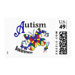 Stained Glass Butterfly 2 Autism Stamp