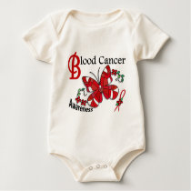 Stained Glass Butterfly 2 Blood Cancer Baby Bodysuit