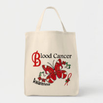 Stained Glass Butterfly 2 Blood Cancer Tote Bag