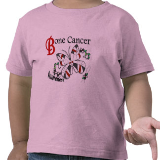 Stained Glass Butterfly 2 Bone Cancer T Shirt