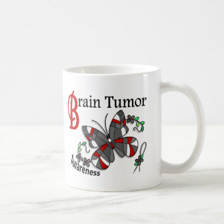 Stained Glass Butterfly 2 Brain Tumor Classic White Coffee Mug
