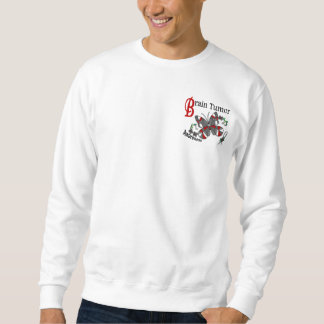 Stained Glass Butterfly 2 Brain Tumor Pullover Sweatshirts