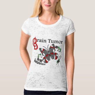 Stained Glass Butterfly 2 Brain Tumor Shirts