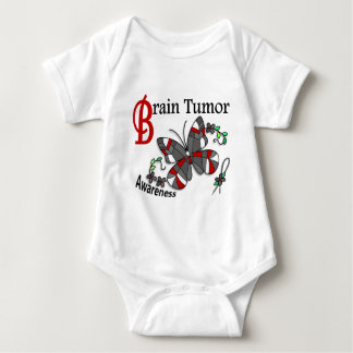 Stained Glass Butterfly 2 Brain Tumor T Shirt
