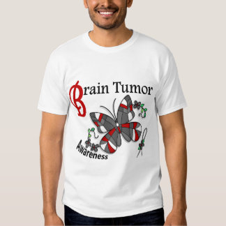 Stained Glass Butterfly 2 Brain Tumor Tee Shirt