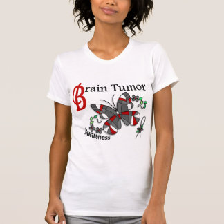Stained Glass Butterfly 2 Brain Tumor Tee Shirts