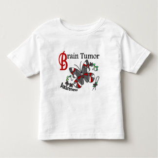 Stained Glass Butterfly 2 Brain Tumor Toddler T-shirt