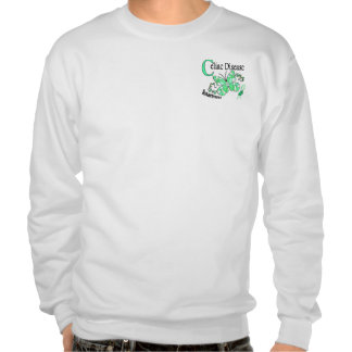Stained Glass Butterfly 2 Celiac Disease Pull Over Sweatshirt