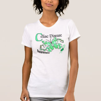 Stained Glass Butterfly 2 Celiac Disease Tee Shirts