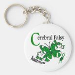 Stained Glass Butterfly 2 Cerebral Palsy Basic Round Button Keychain