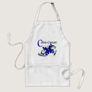 Stained Glass Butterfly 2 Colon Cancer Adult Apron