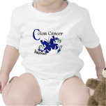 Stained Glass Butterfly 2 Colon Cancer T Shirts