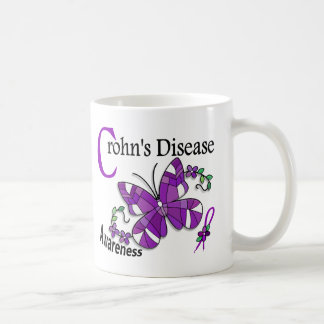 Stained Glass Butterfly 2 Crohn's Disease Coffee Mug