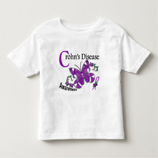 Stained Glass Butterfly 2 Crohn's Disease Toddler T-shirt