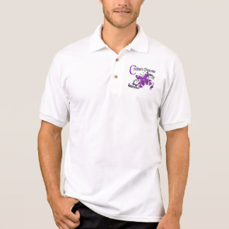 Stained Glass Butterfly 2 Crohn's Disease Polo Shirt