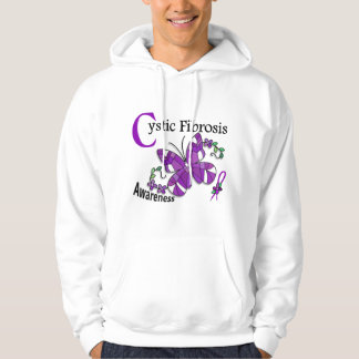 Stained Glass Butterfly 2 Cystic Fibrosis Sweatshirts
