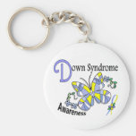 Stained Glass Butterfly 2 Down Syndrome Key Chain