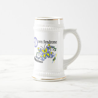 Stained Glass Butterfly 2 Down Syndrome 18 Oz Beer Stein