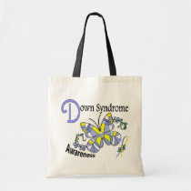 Stained Glass Butterfly 2 Down Syndrome Tote Bag
