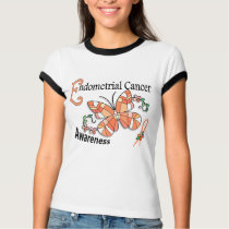 Stained Glass Butterfly 2 Endometrial Cancer T-Shirt