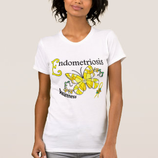 Stained Glass Butterfly 2 Endometriosis Tees